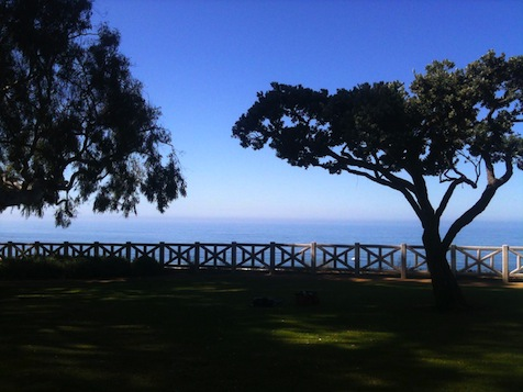 Image: View of the Pacific from Palisades Park, Santa Monica