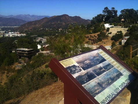 Image: Overlook funded by Universal Studios, Mulholland Drive, Los Angeles